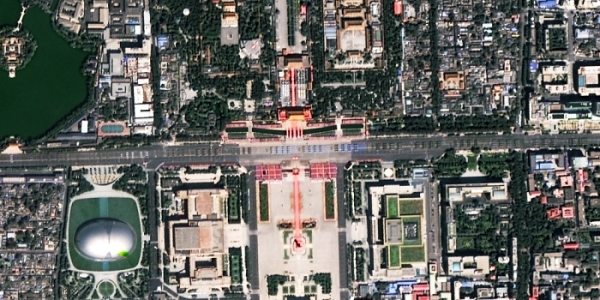 Land Observation Satellite Watched Military Parade from Different View